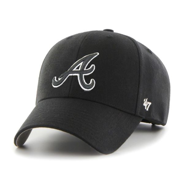 47 Brand MLB Atlanta Braves B-MVPSP01WBP-BK